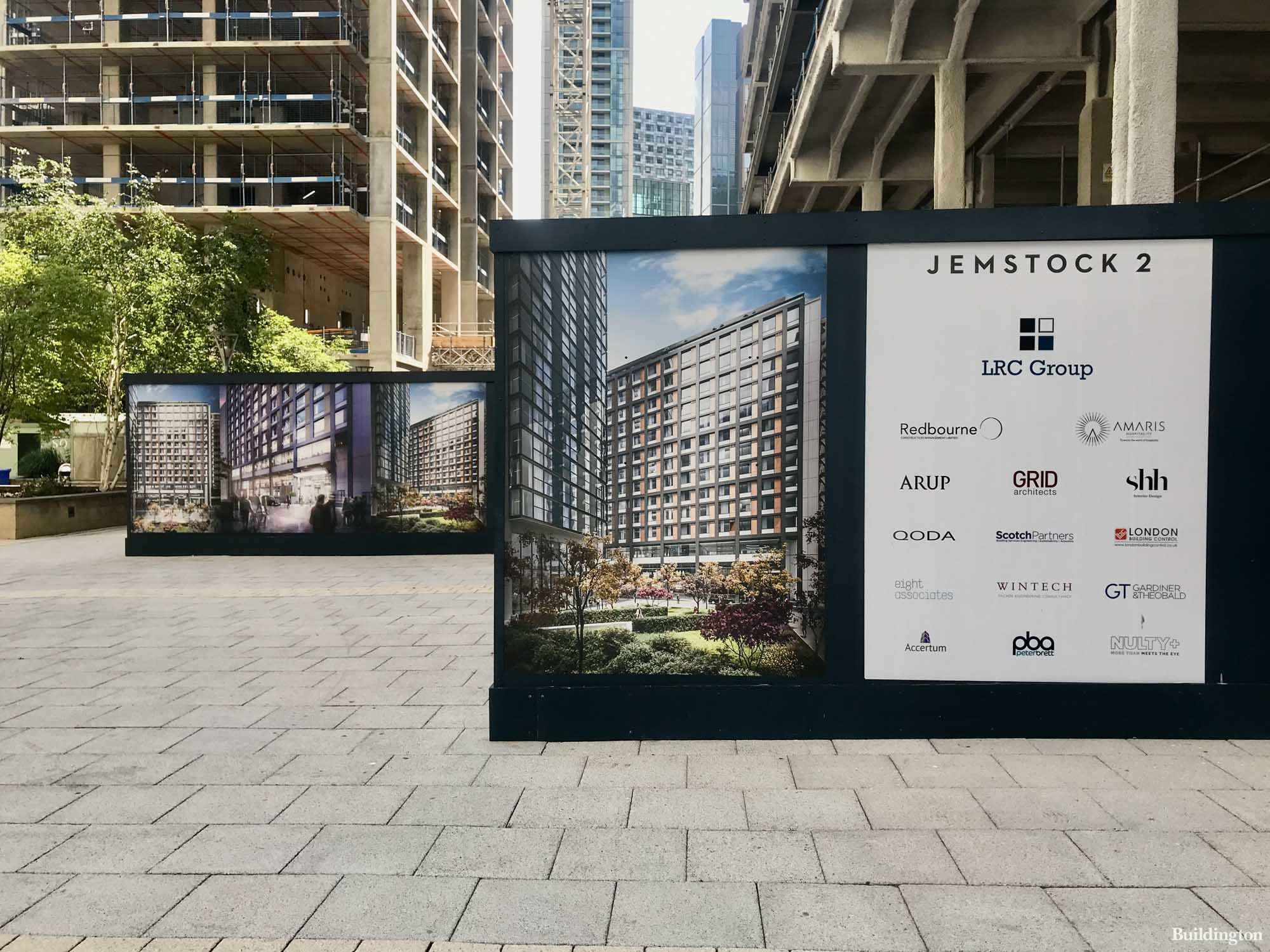 Jemstock 2 by LCR Group development team on the hoarding.