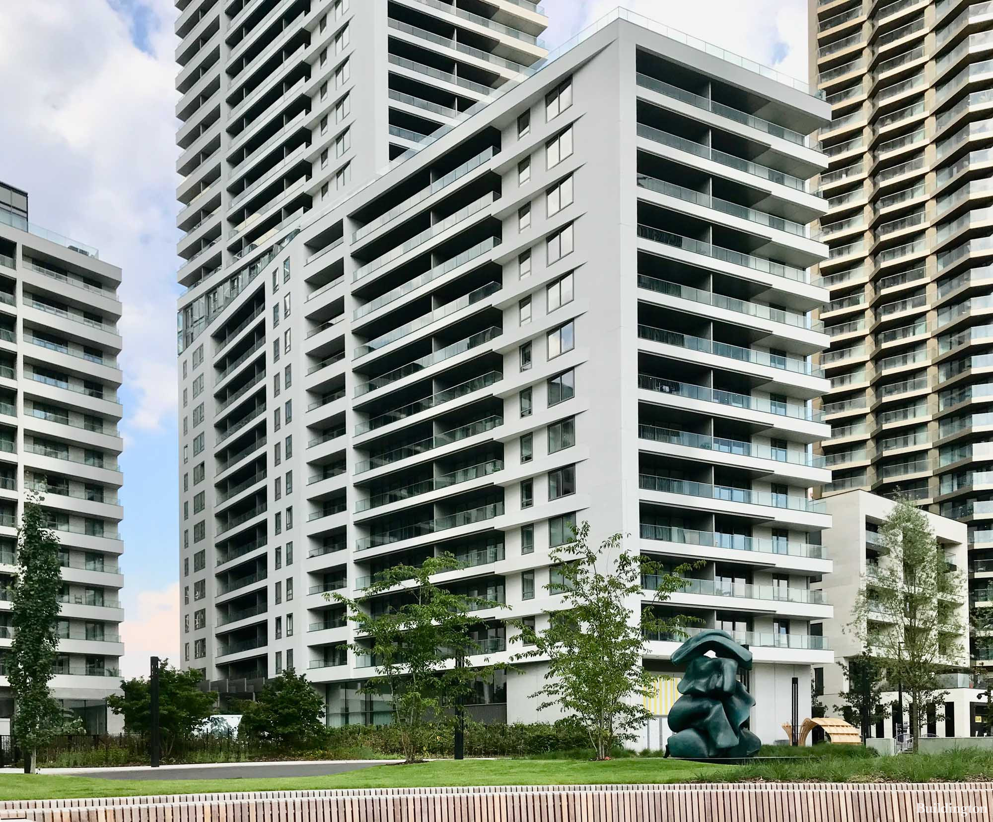 10 Park Drive apartments from South Dock promenade.