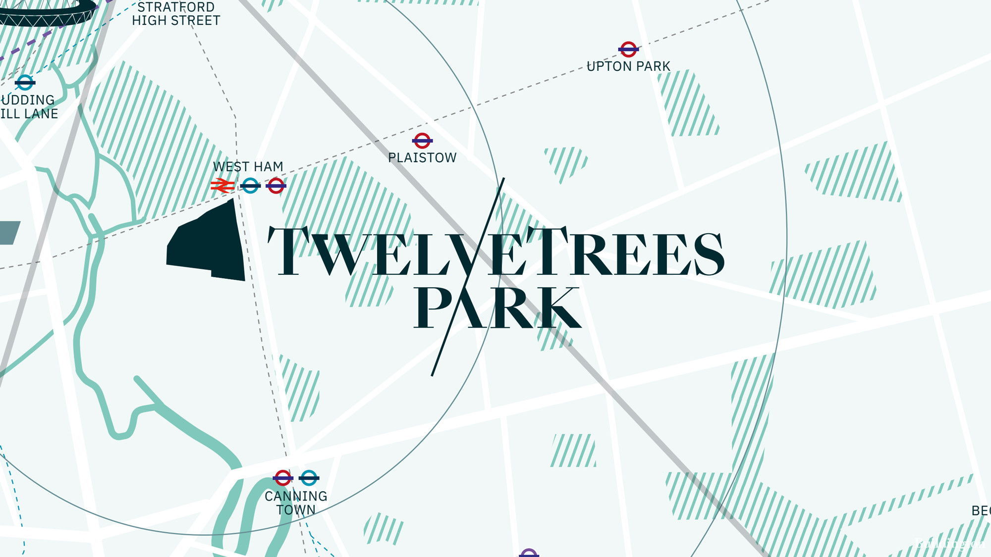 TwelveTrees Park development by Berkeley in West Ham, London E15. Screen capture from the development brochure available to download at berkeleygroup.co.uk.