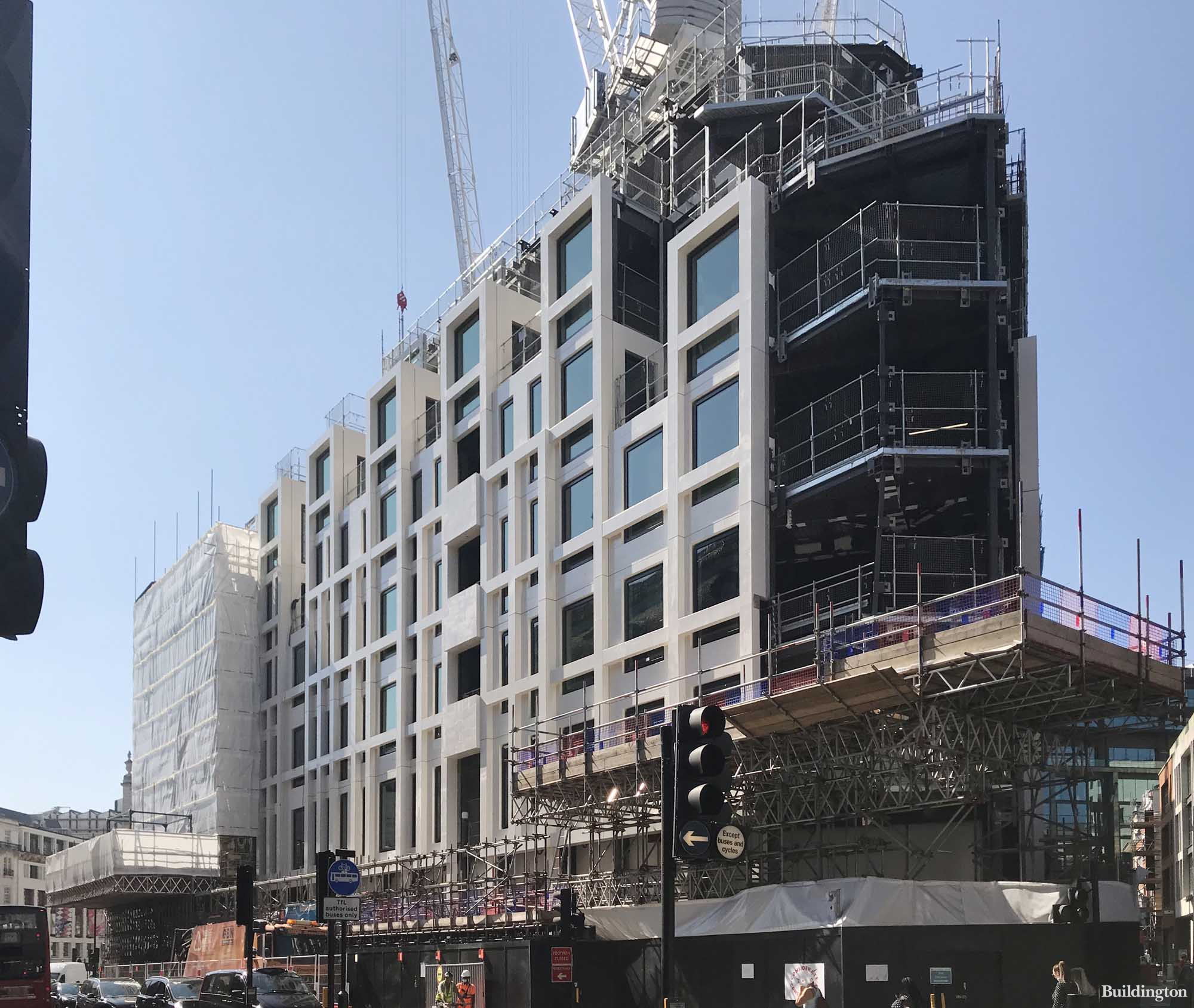 View to Lucent W1 development on Shaftesbury Avenue in London W1.