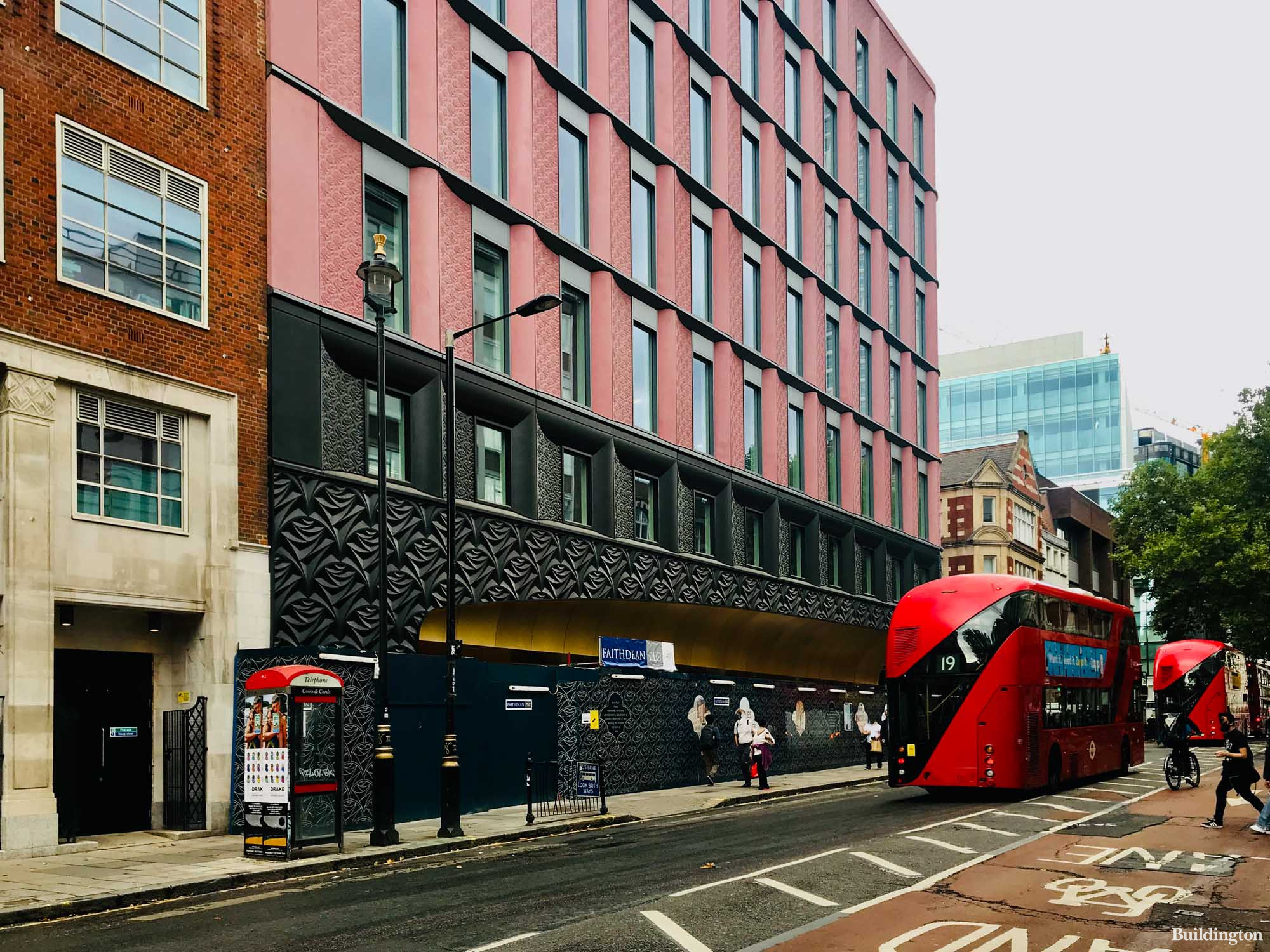 Phase 3 works at Ilona Rose House are managed by Development Managers Limited DML. View to the development from Charing Cross Road.