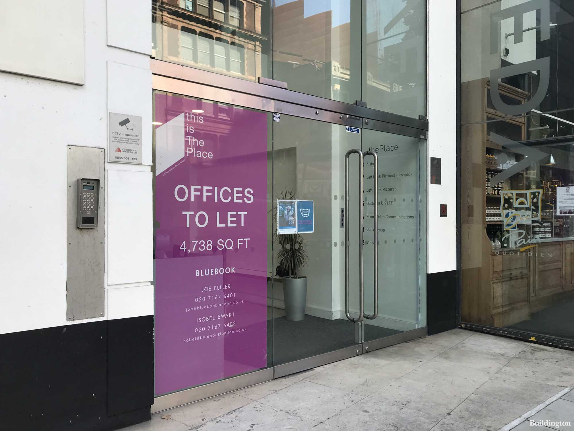 This is The Place at 175 High Holborn in London WC1. Offices to let by Bluebook.