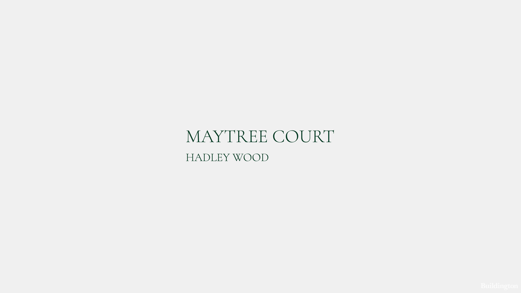 Maytree Court development by Troy Homes logo.
