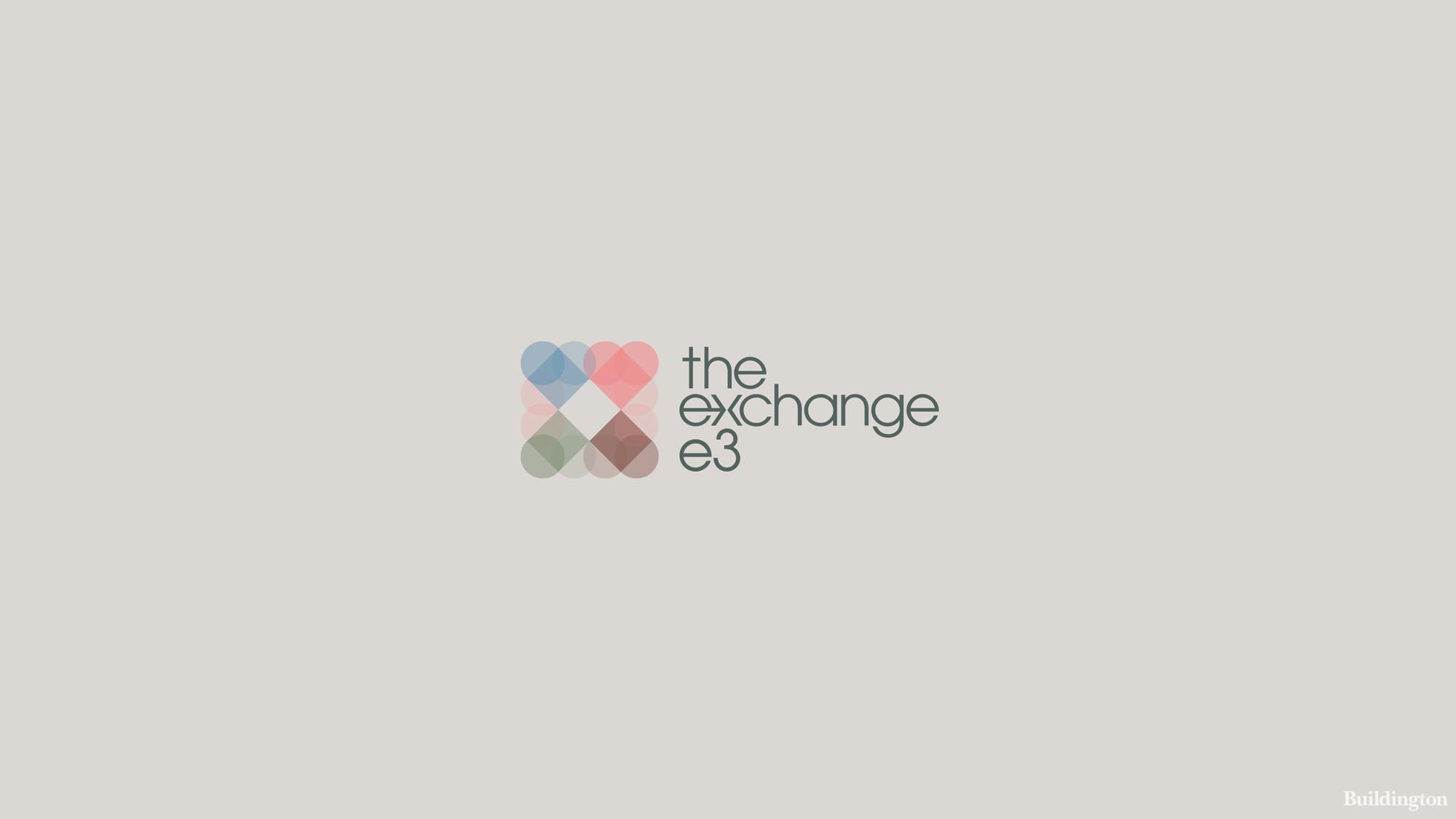 Logo of The Exchange development in Limehouse Cut London E3.