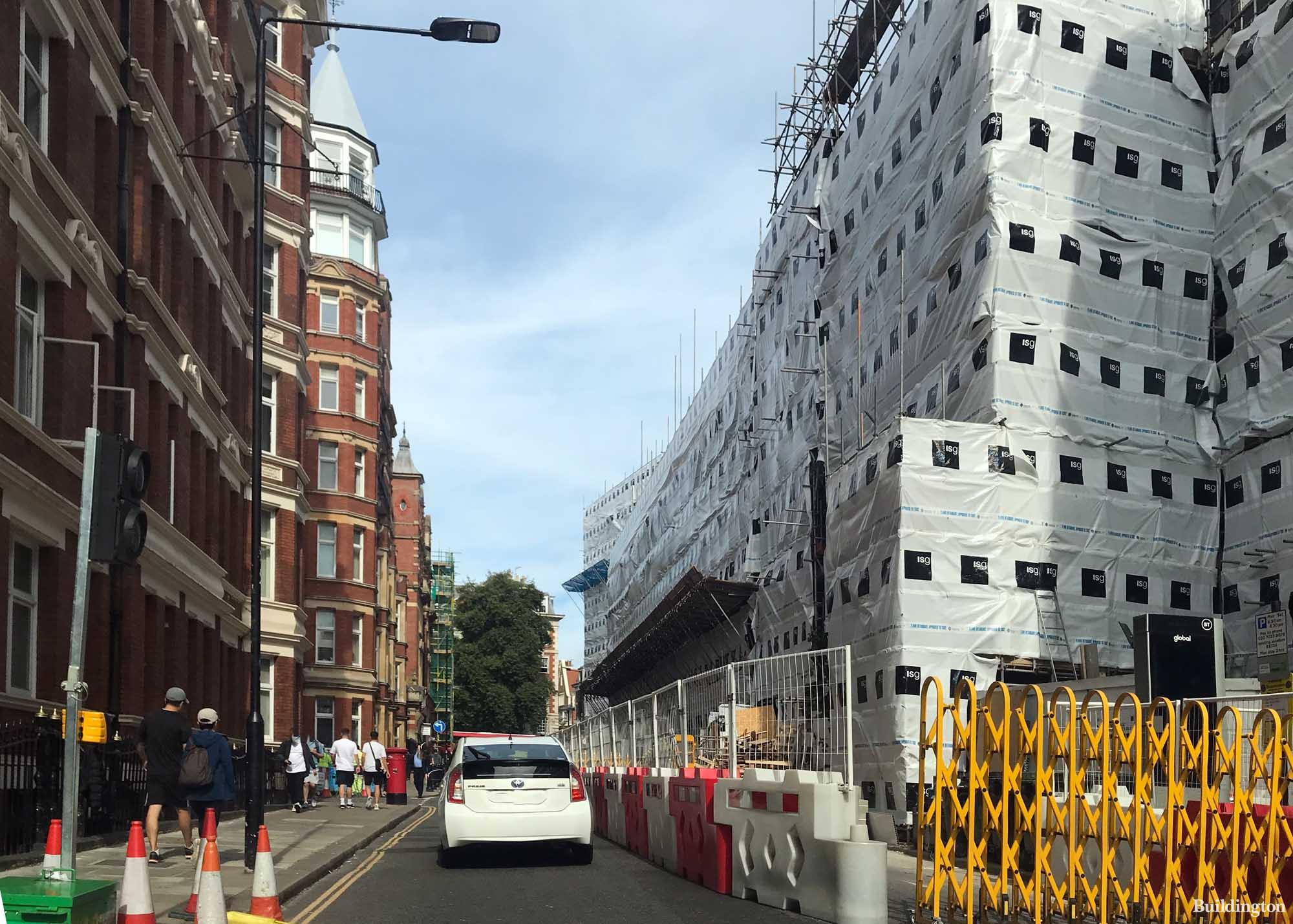 The Kensington Building under construction.