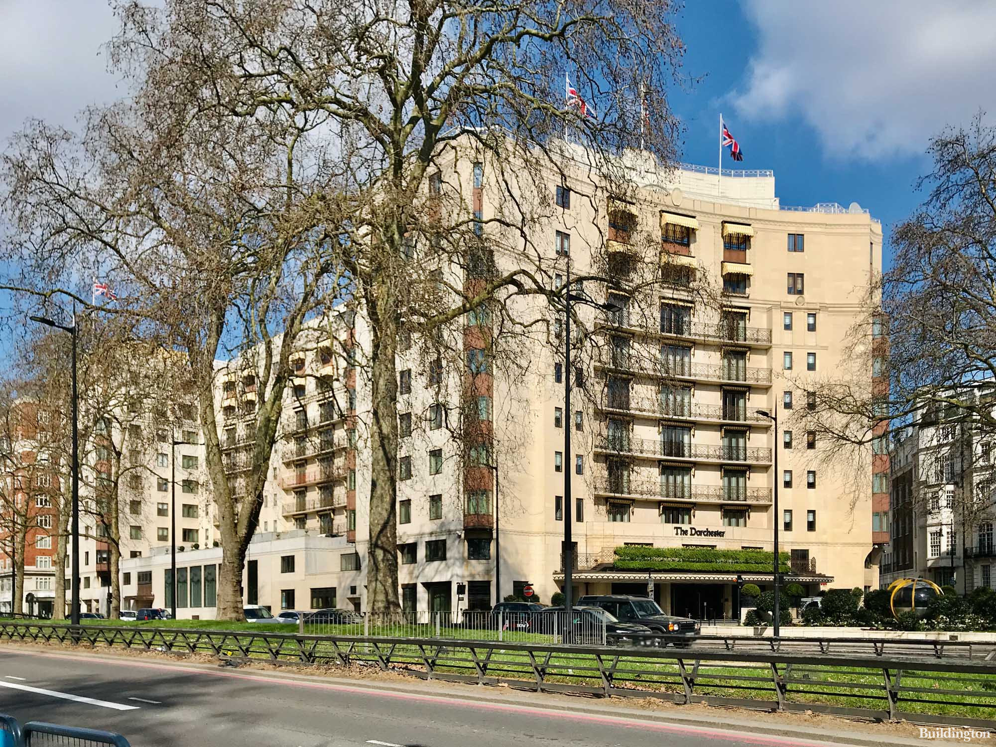 The Dorchester Hotel on Park Lane in Mayfair, London W1.