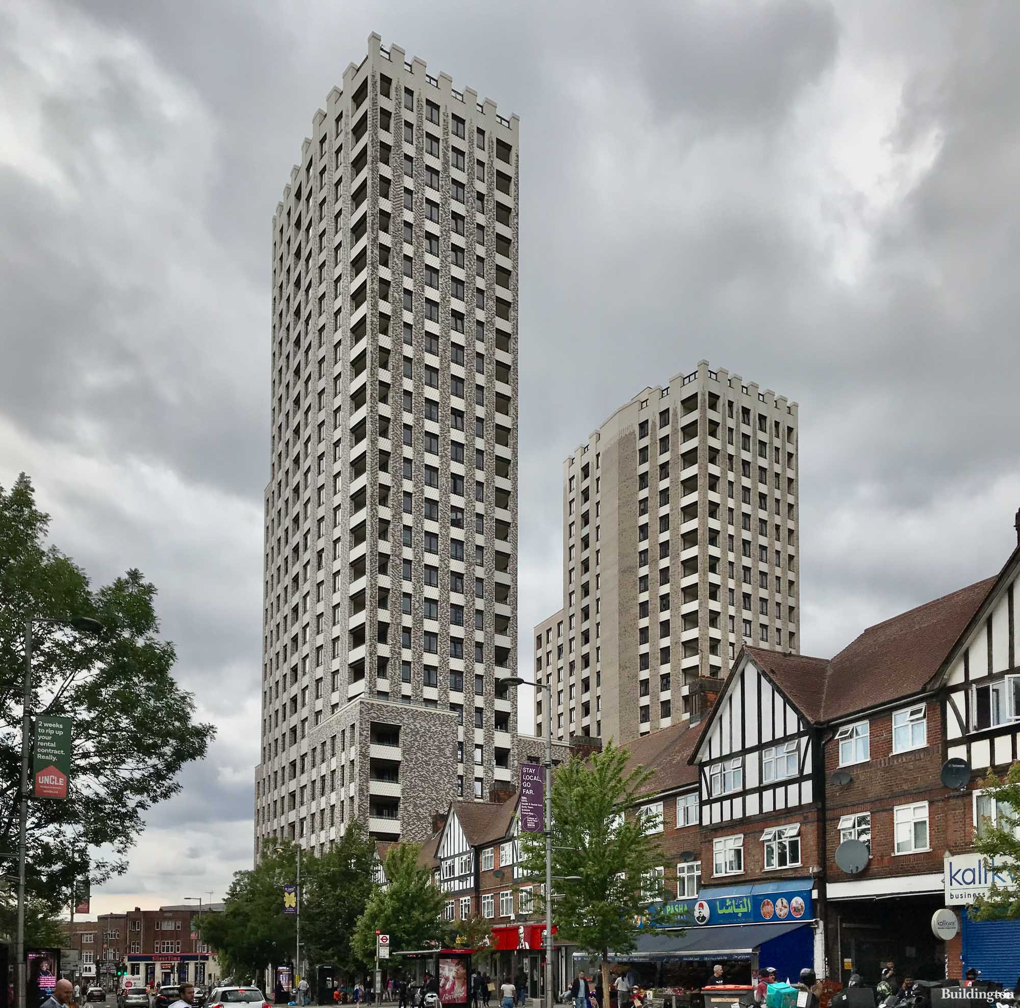 UNCLE Wembley towers from Wembley HA9