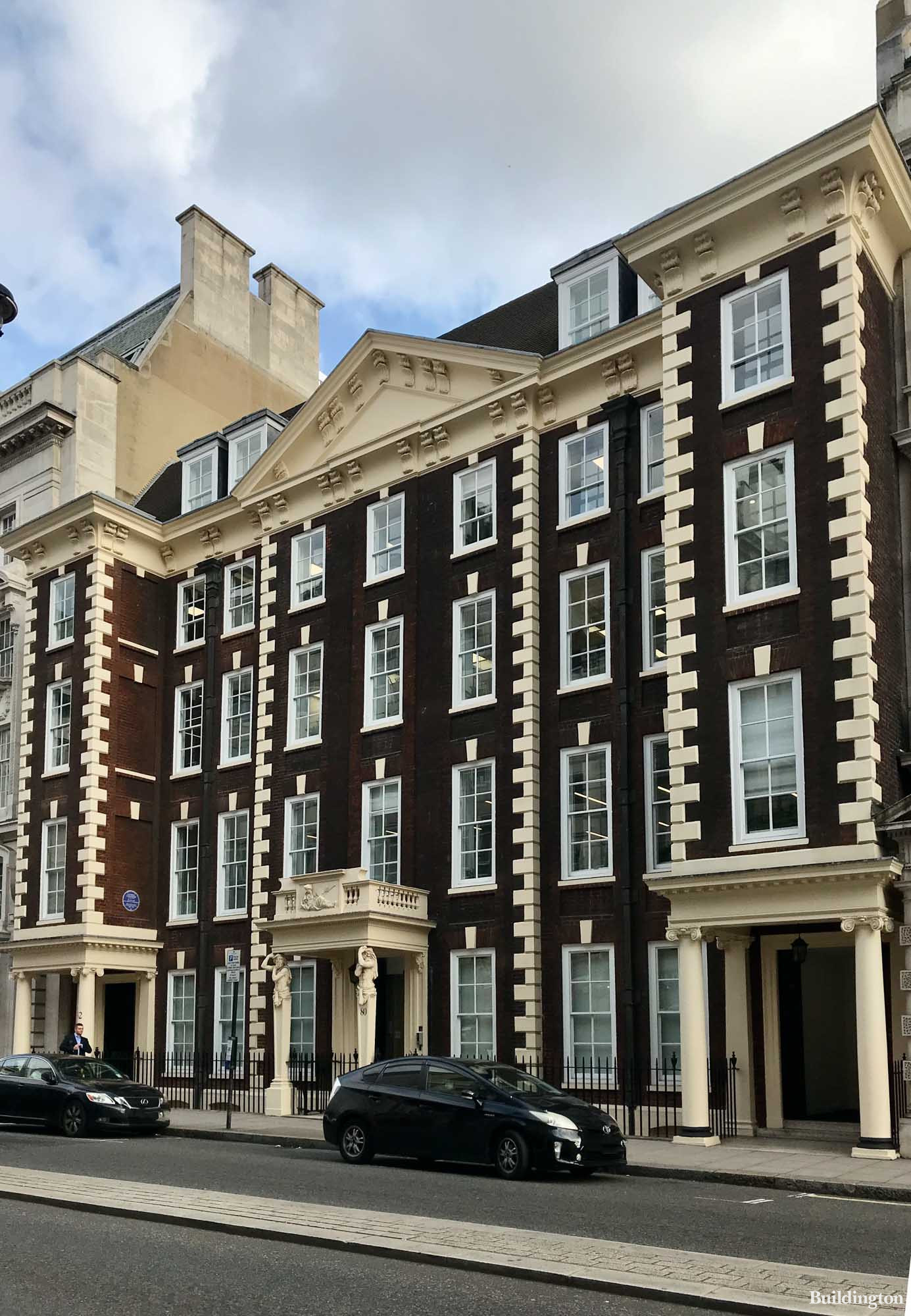 Schomberg House on Pall Mall in London SW1.