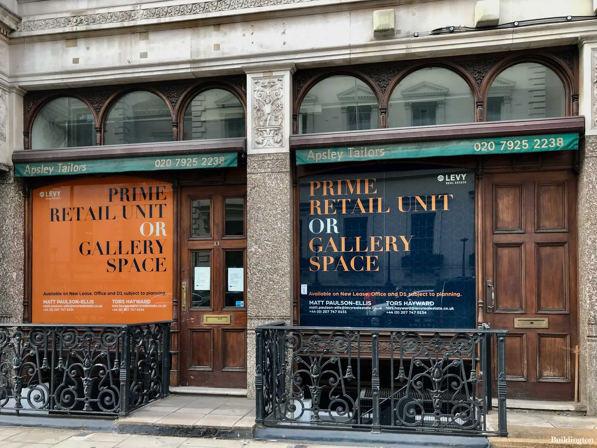 Prime retail unit or gallery space to let. Available on new lease. Office and D1 subject to planning. Advertised by LEVY.