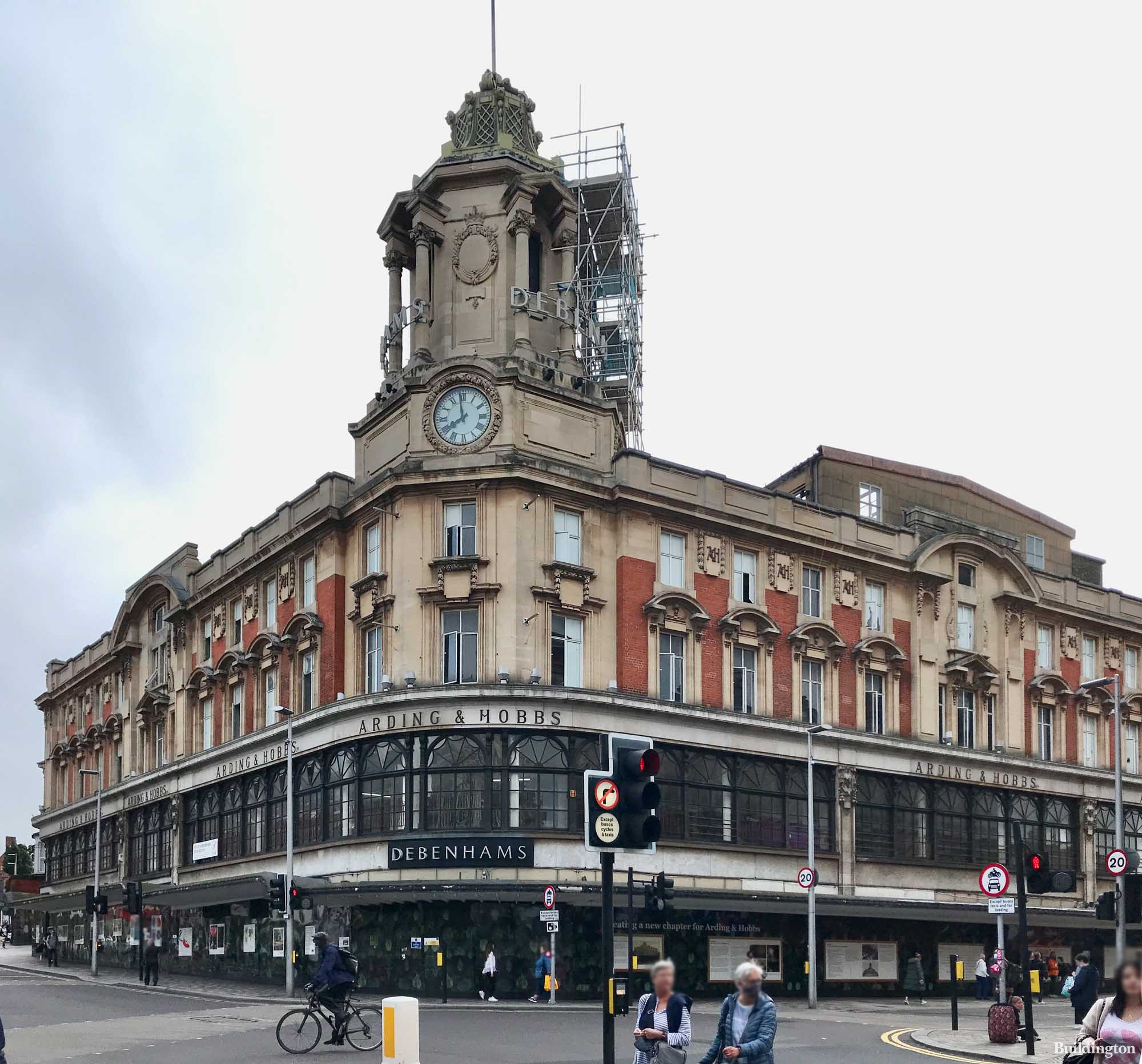 Arding & Hobbs - the former department store, most recently occupied by Debenhams, is being redeveloped to the designs of Stiff+Trevillion.