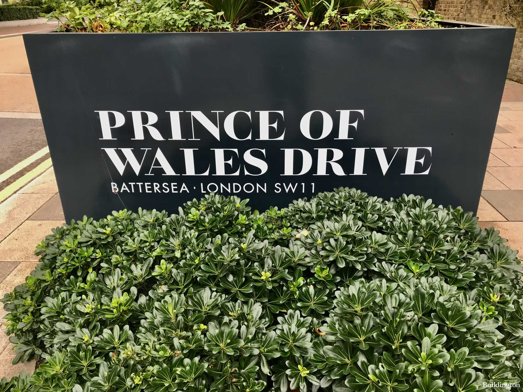 Prince of Wales Drive by St William development sign on the side of the road.