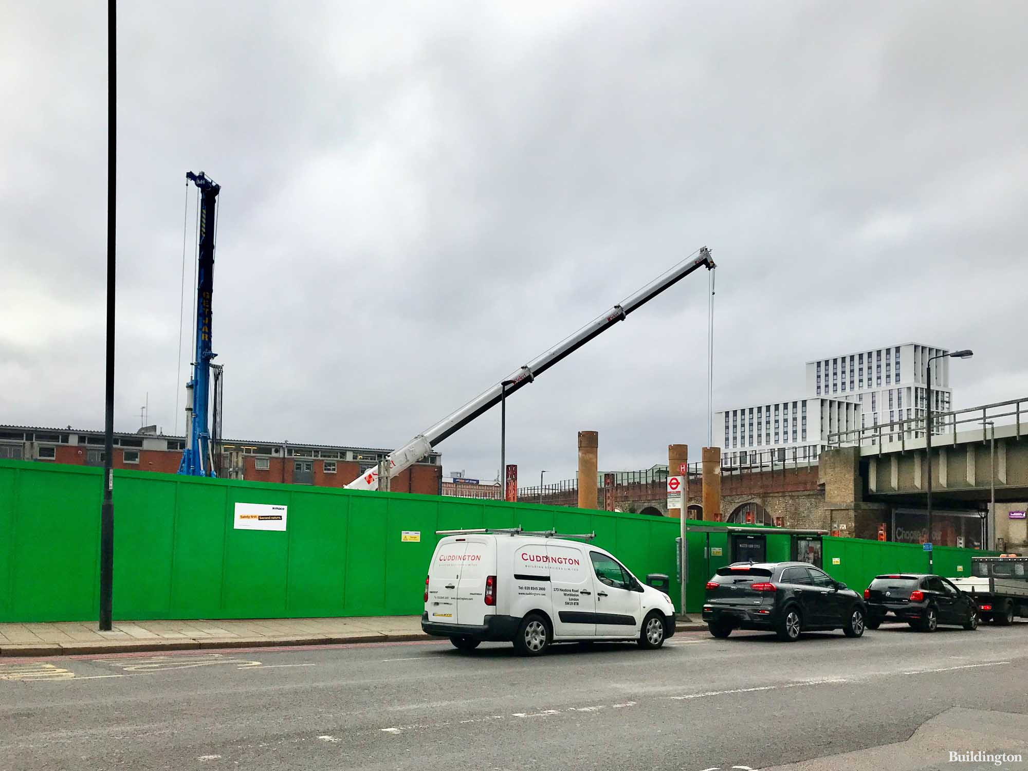 Mace on site of Urbanest's Palmerston Court development in autumn 2021.