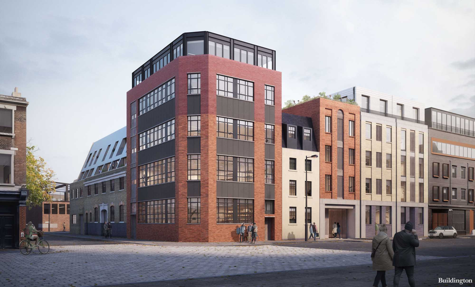 CGI of The Sea Building at Great Suffolk Yard office development.