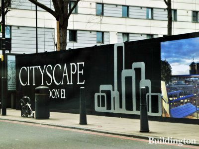 Cityscape development in London EC1