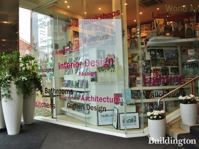 RIBA bookshop at Design Centre Chelsea Harbour