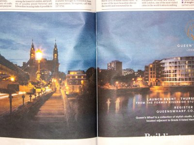 Queen's Wharf advertisement in Homes & Property, Evening Standard, 8.10.2014