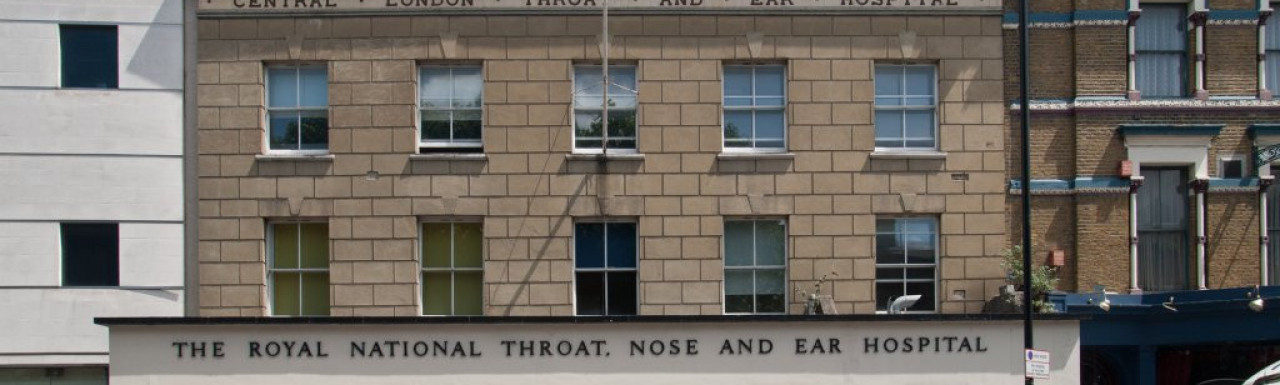 The Royal National Throat, Ear and Nose Hospital on Gray's Inn Road, London WC1.