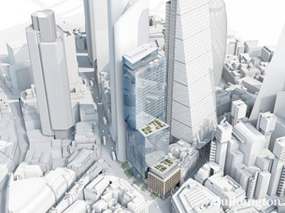 CGI of 6-8 Bishopsgate building designed by Wilkinson Eyre Architects.