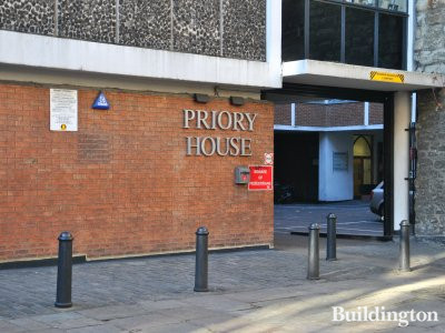 Entrance to Priory House on St John's Lane.