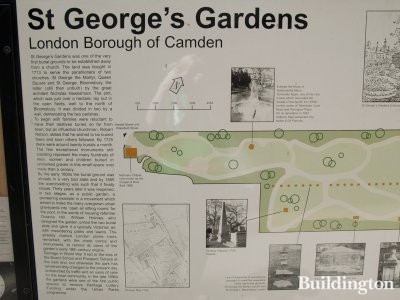 St George's Gardens in the London Borough of Camden