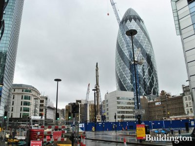 View to 100 Bishopsgate construction site.