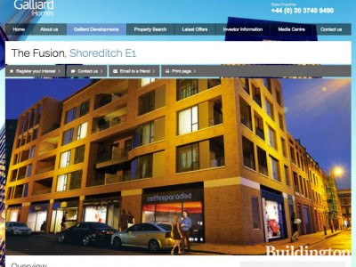 Screen capture of The Fusion on Galliard website
