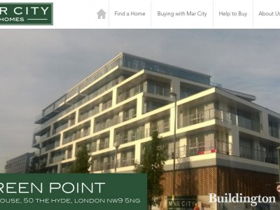 Screen capture of Green Point page on Mar City Homes website at www.marcityhomes.com