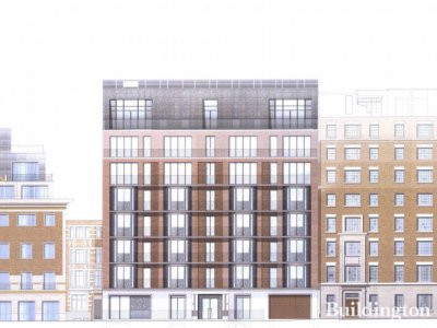 Proposed elevation by Squire and Partners for 25 Buckingham Gate