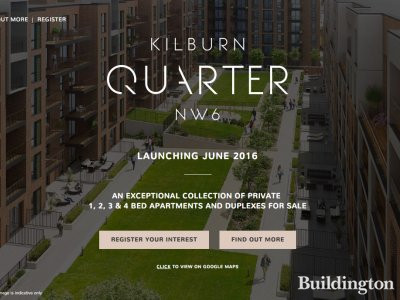 Screen capture of Kilburn Quarter website at Kilburnquarter.com in June 2016
