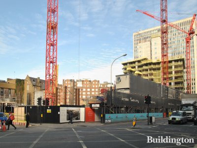 Zig Zag Building development site in March 2014. Kings Gate construction at the back.