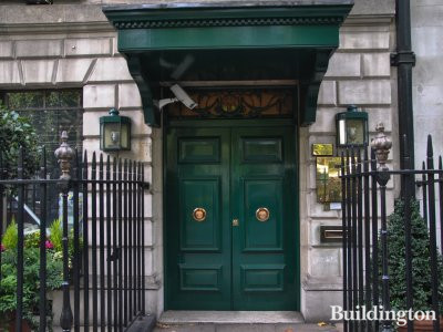 Entrance to 48 Berkeley Square.