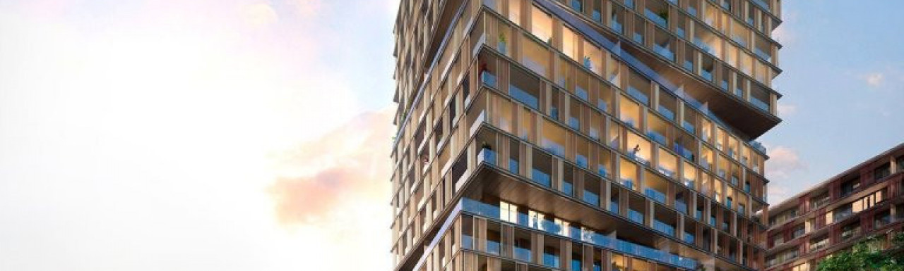 CGI of Marco Polo building at www.marinersquarter.com