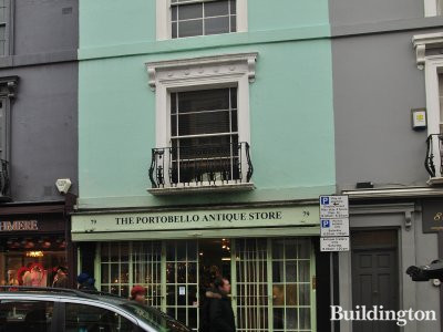 79 Portobello Road is Notting Hill, London W11.