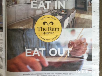 Advertising for The Ram Quarter in Homes & Property, Evening Standard, 8.10.2014.