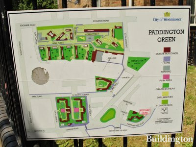 Paddington Green site map next to Dudley House