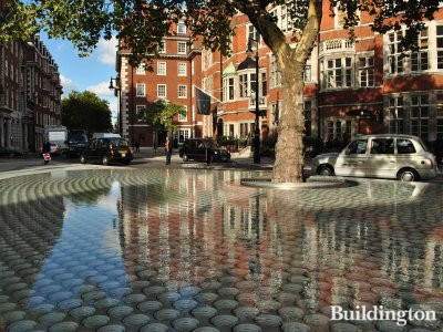 View t'Silence', a new water feature in front of The Connaught hotel, designed by the Japanese architect philosopher Tadao Ando.