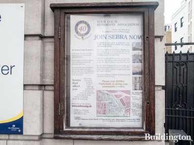 Join SEBRA now - your local residents' association. Advert on Porchester Hall.