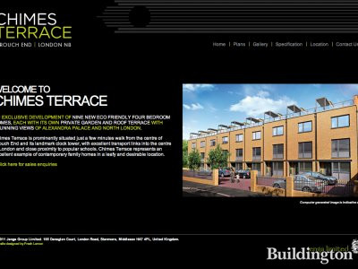 Screen capture of Chimes Terrace website at www.chimesterrace.net