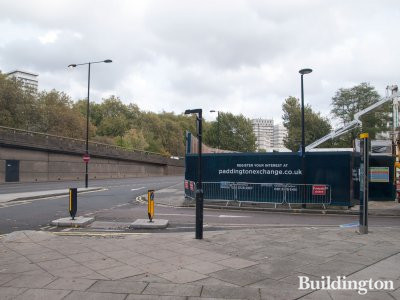 Paddington Exchange development site next to Harrow Road in October 2014.