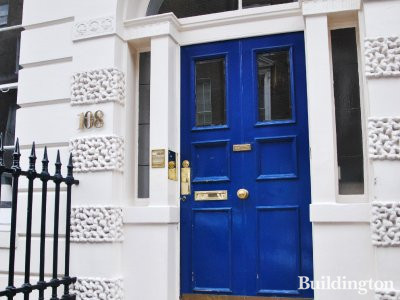 Entrance to 108 Harley Street