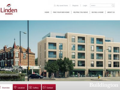 Screen capture of Parkside Place development page on Linden Homes website www.lindenhomes.co.uk