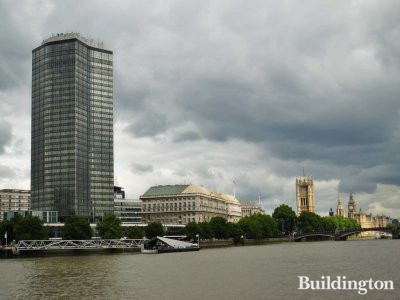 View to Millbank Tower from across the river.
