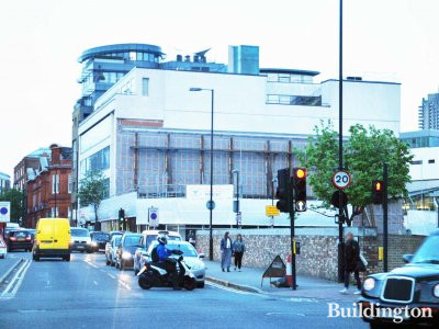 Turnmill development in May 2013. View from Clerkenwell Road.
