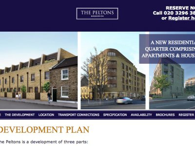 Screen capture of The Peltons website at www.thepeltons.co.uk.