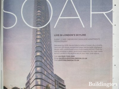 Advertisement for Lexicon development in Homes & Property, Evening Standard, 15.10.2014