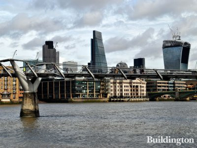 View to Leadenhall Building from Thames in 2014