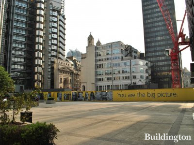 View to the Leadenhall Building building site