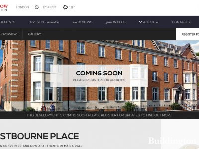 Screen capture of Westbourne Place on Redrow website www.redrow.co.uk in August 2015