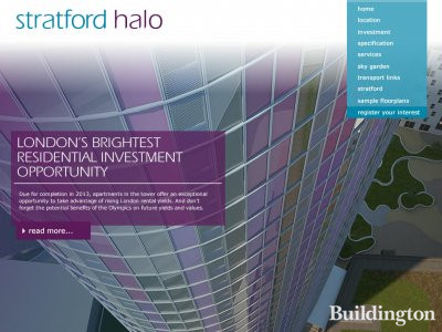 Screen capture of Stratford Halo website at www.stratfordhalo.com