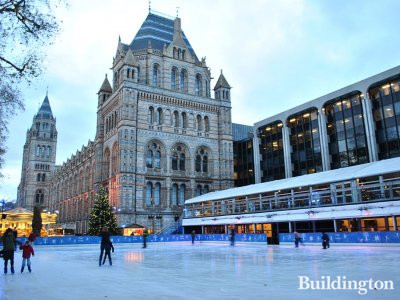 Ice rink next to the NHM